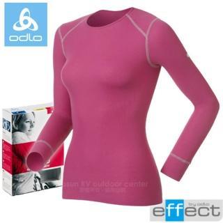【瑞士 ODLO】ladies effect女長袖排汗保暖內衣.圓領衛生衣.圓領保暖衣(紫 152021)