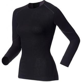 【瑞士 ODLO】X-WARM Effect《背部加強》保暖升級 女機能型銀離子保暖內衣(黑 155161)