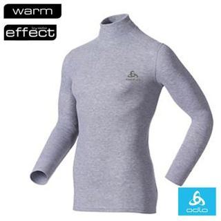 【瑞士 ODLO】WARM EFFECT 男高領專業機能型銀離子保暖內衣.衛生衣(深麻灰 152012)