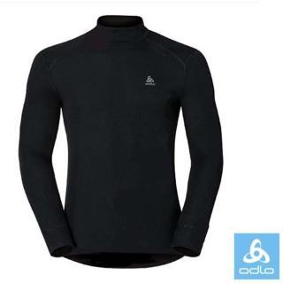 【瑞士 ODLO】WARM EFFECT 男高領專業機能型銀離子保暖內衣.衛生衣(黑 152012)