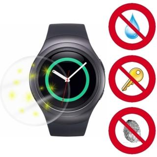 【D&A】SAMSUNG Gear S2專用日本NEW AS玻璃奈米5H 螢幕保護貼(超值2入)