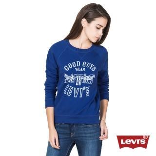 【Levis】女款長袖LOGO T恤