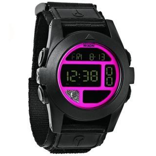 【NIXON】THE BAJA 多功能科技感潮流錶-粉紅(A489-480)
