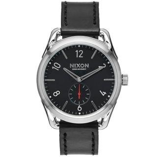 【NIXON】THE C39 LEATHER 文青簡約設計指針錶-黑(A459-008)