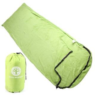 【TreeWalker】珊瑚絨睡袋(草綠)