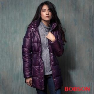 【BOBSON】女款 尊爵 長版羽絨外套(35120-64)