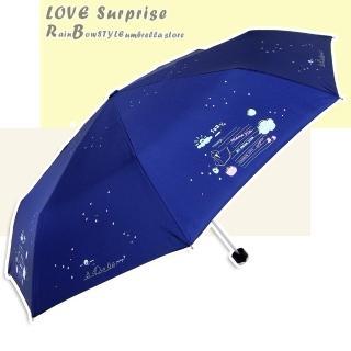 【RainBow】夏日記憶 - 抗UV晴雨傘(深海藍)