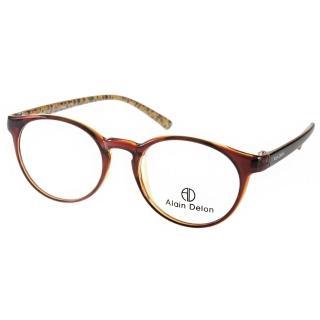 【ALAIN DELON眼鏡】俏皮半圓框款(棕#AD20282 BR1)