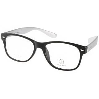 【ALAIN DELON眼鏡】簡約百搭款(黑-銀#AD20310 BS2)
