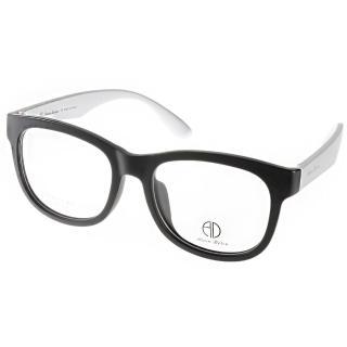 【ALAIN DELON眼鏡】簡約百搭款(黑-銀#AD20313 BS2)