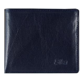 【Sika】義大利素面牛皮簡約中性短皮夾含拉鍊零錢匣(A8220-06清玉藍)
