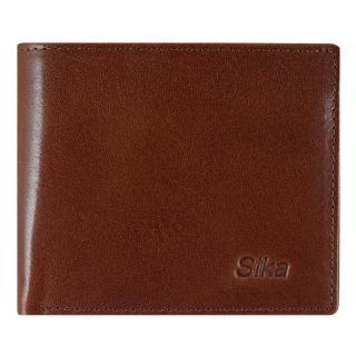 【Sika】義大利素面牛皮簡約中性短皮夾含拉鍊零錢匣(A8220-02深咖啡)