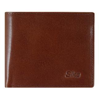 【Sika】義大利素面牛皮簡約中性短皮夾(A8253-02深咖啡)
