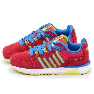 【K-swiss】大童 輕量避震運動鞋(53516-678-紅)