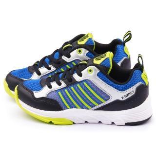 【K-swiss】大童 輕量避震運動鞋(53548-483-藍)