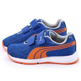 【PUMA】中大童 輕量透氣運動鞋(187255-15-藍)