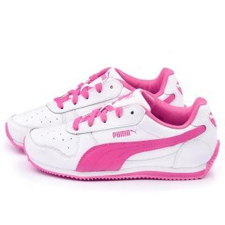 【PUMA】大童 輕量透氣運動鞋(354596-21-白粉)