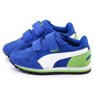 【PUMA】中大童 輕量透氣運動鞋(358773-06-藍)