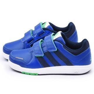 【Adidas】中大童 輕量避震運動鞋(B23919-藍)