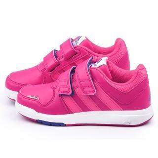 【Adidas】中大童 輕量避震運動鞋(B23920-桃)