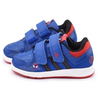 【Adidas】小童 蜘蛛人聯名款運動鞋(B24569-藍)