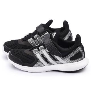 【Adidas】大童 輕量透氣運動跑鞋(S83011-黑)