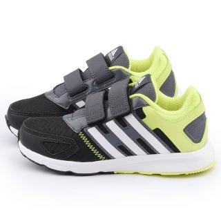 【Adidas】中大童 輕量避震運動跑鞋(B23787-黑黃)