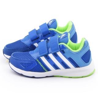 【Adidas】中大童 輕量避震運動跑鞋(B23788-藍)