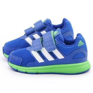 【Adidas】小童 透氣運動鞋(B23853-藍)