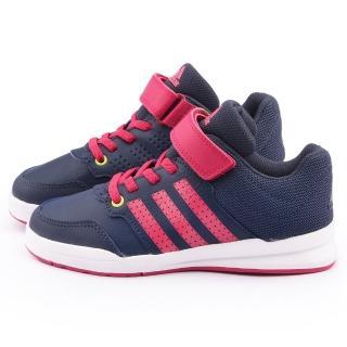 【Adidas】中大童 輕量避震運動跑鞋(B23901-藍粉)