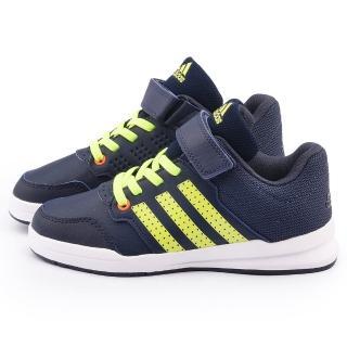 【Adidas】中大童 輕量避震運動跑鞋(B23902-藍黃)