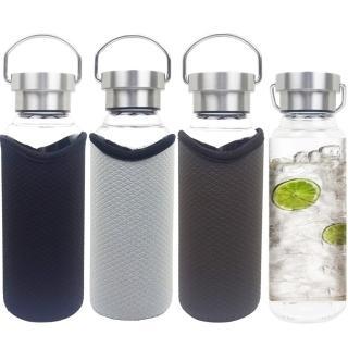【貴族水晶玻璃】手提式耐熱玻璃水瓶550ml-隨機(買二送二)