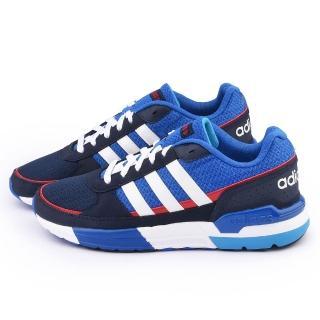 【Adidas】男款 NEO RUN9TIES 輕量慢跑鞋(F98296-藍)