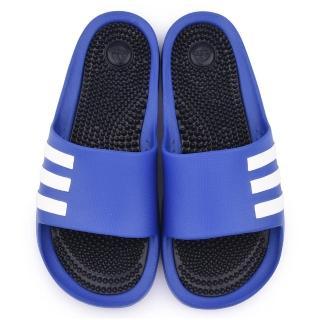 【Adidas】男款 Duramossage 拖鞋(B27208-藍)