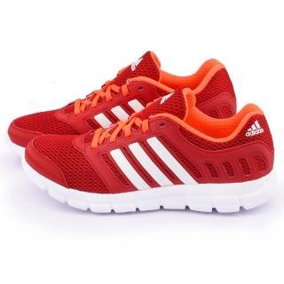 【Adidas】男款 BREEZE 101 2 M 輕量慢跑鞋(S81690-紅)