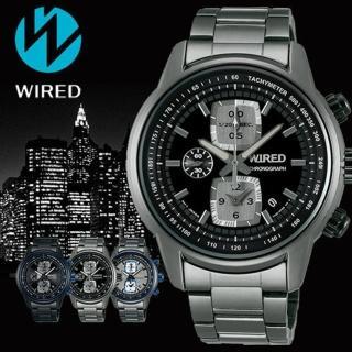 【WIRED】Reflection 黑夜時空計時碼錶(43mm/7T92-X271F)