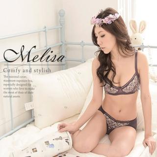 【魔莉莎】台灣製宮廷羅曼史機能美胸防副乳內衣成套(B506 紫芋)
