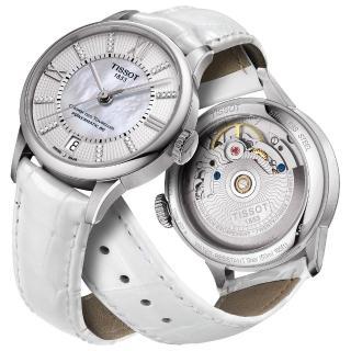 【TISSOT】杜魯爾系列真鑽機械動力80腕錶(T0992071611600)