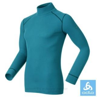【瑞士 ODLO】WARM EFFECT 男高領專業機能型銀離子保暖內衣.衛生衣(152012 藏藍)