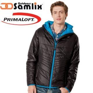 【山力士 SAMLIX】男 Primaloft 輕量保暖外套.休閒外套.雪衣.防風防潑(黑 66813)