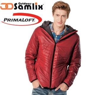 【山力士 SAMLIX】男 Primaloft 輕量保暖外套.休閒外套.雪衣.防風防潑(紅 66813)