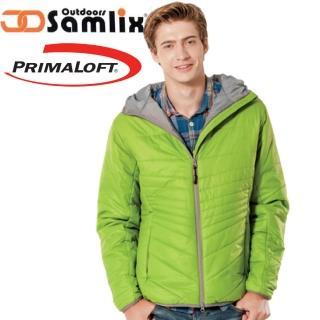 【山力士 SAMLIX】男 Primaloft 輕量保暖外套.休閒外套.雪衣.防風防潑(綠 66813)