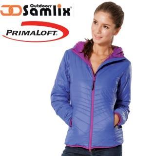 【山力士 SAMLIX】女 Primaloft 輕量保暖外套.休閒外套.雪衣.防風防潑(藍紫 36813)