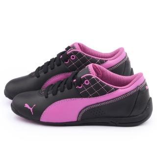 【PUMA】大童 輕量休閒鞋(305182-10-黑紫)