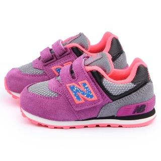 【NewBalance】小童 經典574復古運動鞋(KG574O5I-紫)