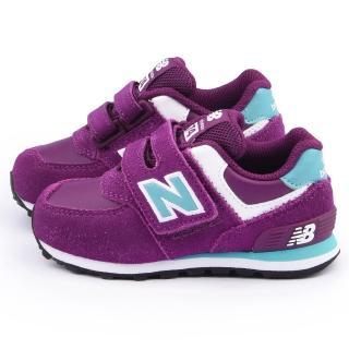 【NewBalance】小童 經典574復古運動鞋(KG574PBI-紫)