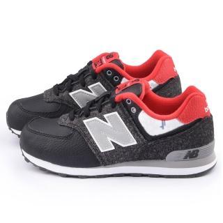 【NewBalance】大童 經典574復古運動鞋(KL574FWG-黑灰)