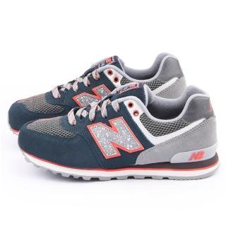 【NewBalance】大童 經典574復古運動鞋(KL574O1G-灰藍)