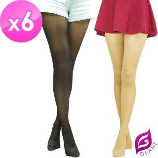 【GLANZ 格藍絲】70D 小惡魔防勾纖腿彈性絲襪x6雙組(黑/膚任選)