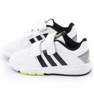 【Adidas】中大童 輕量避震運動鞋(B23979-白黑)